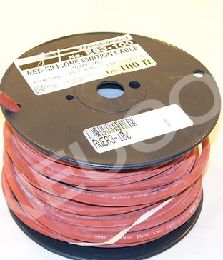 Red Silicone Ignition Cable, 100 Foot Roll