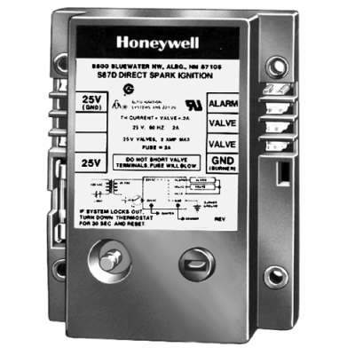 Honeywell S87C1030 Dual Rod Direct Spark Ignition Control 21-Second Trial and Lockout